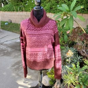 Free People intarsia cowlneck sweater,  S
